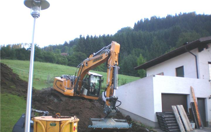 Ausgrabungsarbeiten für die Kellererweiterung