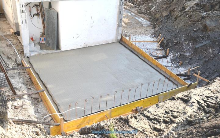 Bodenplatte Holzkeller