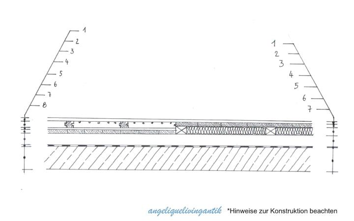 Detail Bodenaufbau in Holzkonstruktion