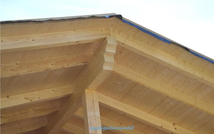 angeliquelivingantik Zubau Detail Dachkonstruktion