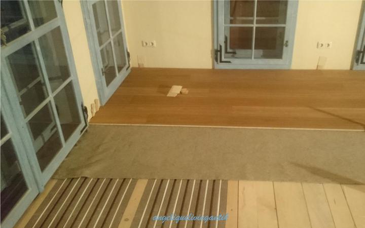 ökologischer Bodenaufbau für Fußbodenheizung ohne Estrich